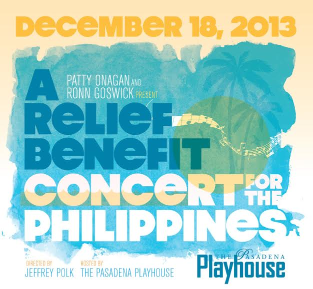 A Relief Benefit Concert for the Philippines at The Pasadena Playhouse
