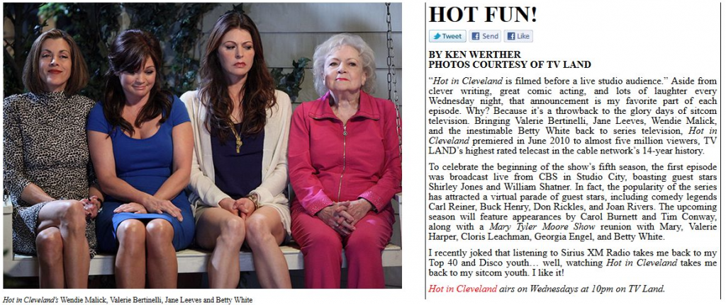 Hot in Cleveland (LA Arts Online)